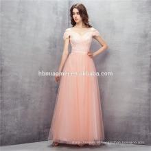 2017 cor de rosa um ombro vestido de noite a linha de comprimento até o chão vestido de noiva