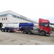 3 axle carbon steel V shape sulfuric acid tank semi-trailer