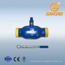 """robinet à tournant sphérique en acier inoxydable 3 """"robinet à tournant sphérique 6 pouces pour tuyau de gaz de chauffage à la vapeur"""
