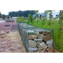 Caixa de Gabion Galvanizado com Calor Quente / Gabion Hexagonal para Barragem