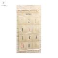 Hot selling fabric organizer hanging bag 100% cotton wall storage pocket