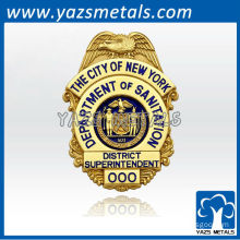 custom made high quality 3D encoding miliatry badges of city