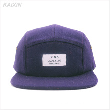 fashion 5 panel caps and hats/custom 5 panel camper hat/wool 5 panel hat
