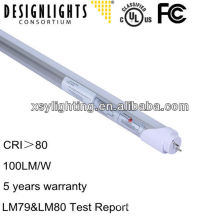 3/5 years warranty t8 ul and dlc listed tube led light 22w 1200mm led light tube