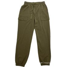 girls kids solid green basic classic summer long pant Bottom