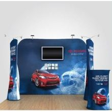 Hop Up Stretch Fabric Display Backdrop untuk Pameran