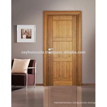 Natural American Walnut Veneer Interior Door with New Design Joint gab