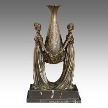 Vase Décoration Statue Dames Sculpture Bronze Sculpture TPE-528