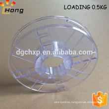 bobina de carretes de plástico para 0,5 kg de filamento