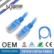 SIPU haute qualité 1 mètre utp 24awg flexible crossover câbles cat5