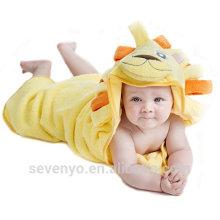 Towel baby Lion Animal face hooded baby towel bamboo Distana Bamboo Blanket Soft Organic bamboo