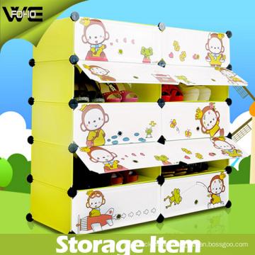 10 Cube Waterproof Dustproof Plastic Storage Shoe Cabinet