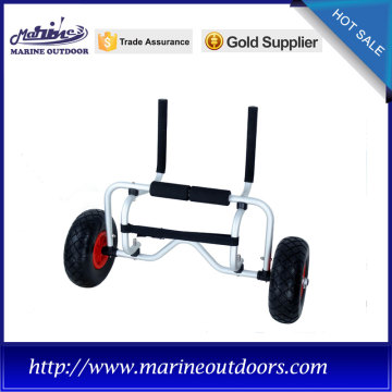 Beach kayak cart, trolley with No-flat wheels, Kayak sitting trailer