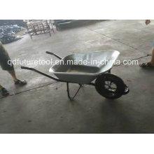 Carrinho de mão de aço durável da construção da venda quente, construção, carrinho de mão de roda do jardim