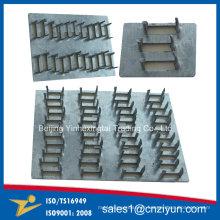 Plaques de réparation en acier à griffes droites