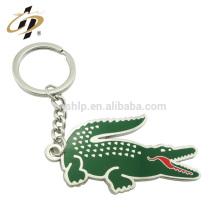 Wholesale crocodile shape custom metal key chain/key chain custom logo