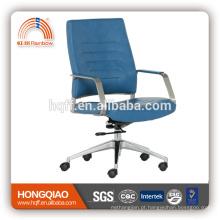 Cadeira do escritório do braço do aço inoxidável do elevador da parte traseira elevada do couro de CM-B194BS / elevador de giro do plutônio