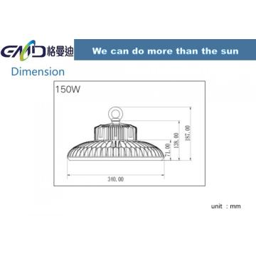 LED waterproof UFO high bay light 150w