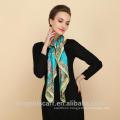 new fashion ladies silk print square scarf