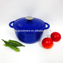 SGS/FDA certificate bule cast iron soup pot/cookware/casserole for kitchenware