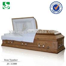wholesale superior American style hardwood adult casket