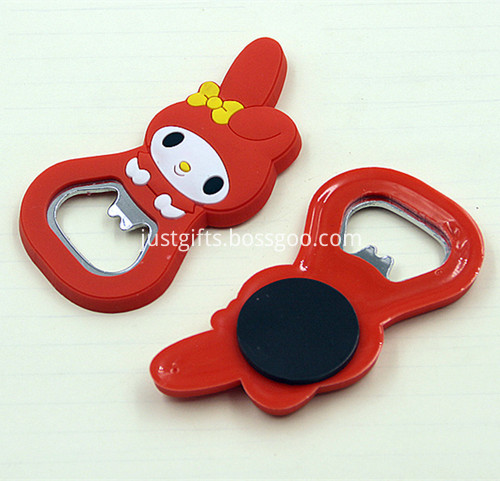 Promotional Cartoon PVC Beer Bottle Opener 3