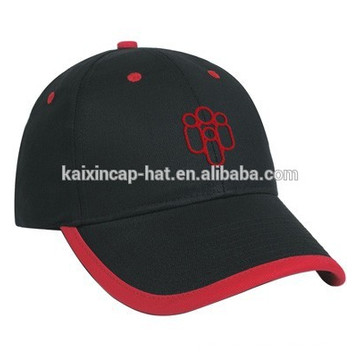 gorras de béisbol negras de la manera del bocadillo del artículo del logotipo del bordado del algodón del 100%