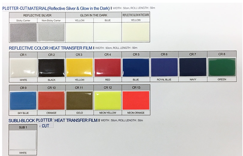glow in the dark heat transfer vinyl film
