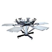 TM-R6-1 6-Farb manuelle Tücher Drucker Nutzung Rotary Siebdruckmaschine
