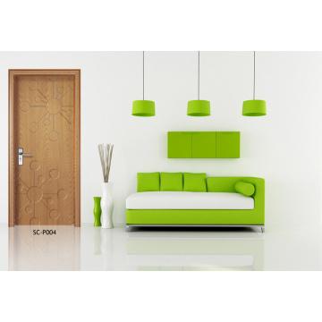 Фабрика дверей ванной комнаты, ХДФ Цена ПВХ двери (СК-Р004)