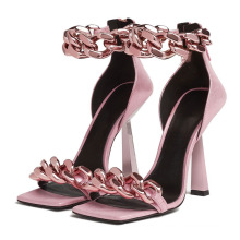Pointed Toe Shoes Women Heels Sexy Pumps High Satin Ladies Office Shoes