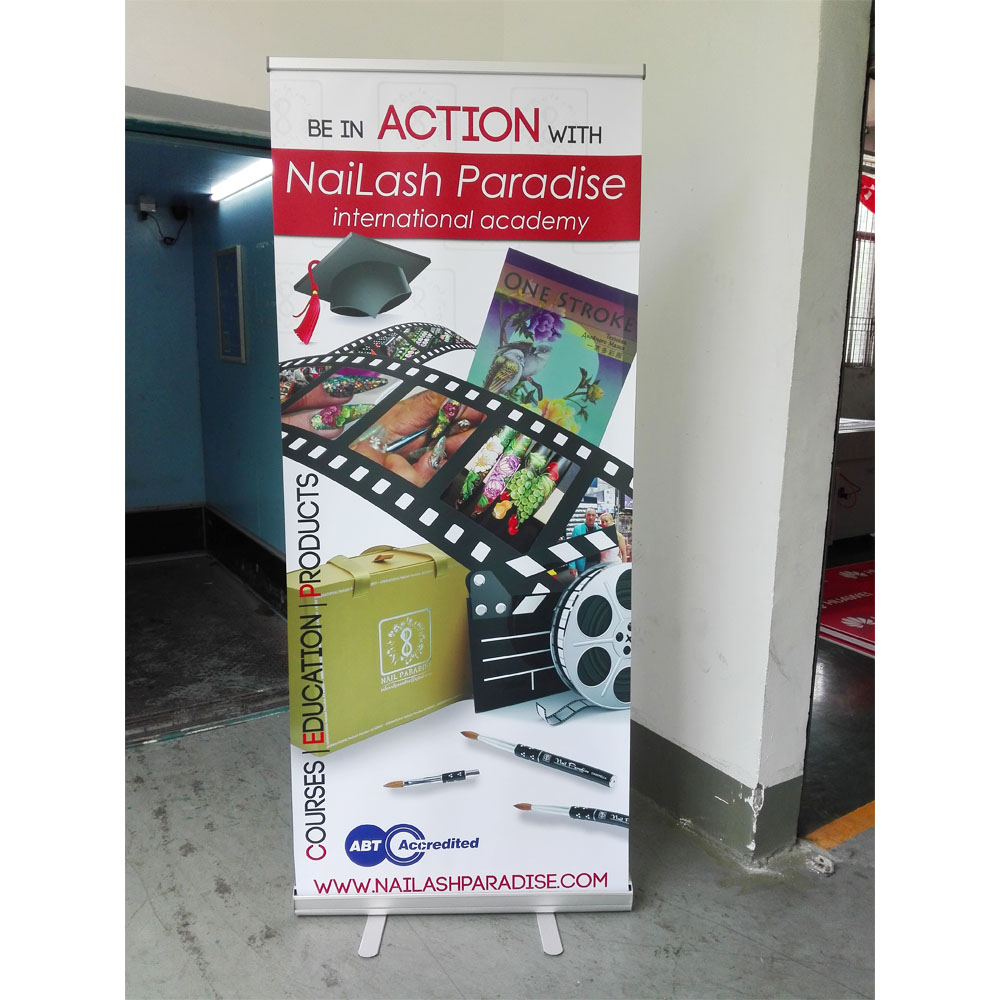 Aluminum Advertising Roll Up Banner Printing