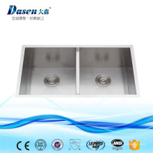 Fregadero de cocina del hexágono de la porcelana del acero inoxidable de la alta calidad Undermount con el trazador de líneas disponible