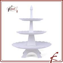 Modélisme Eiffel distinctif Support en gâteau en porcelaine durable 3-Layer