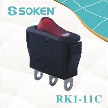 Soken Rocker Switch on-off / on-on pour les appareils électriques Rk1-11c