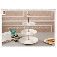 3-х уровневая керамическая подвесная тортная подставка