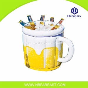 Yellow color inflatable ice bucket