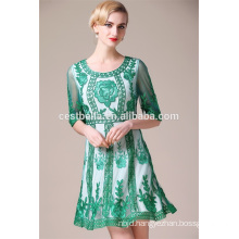 Fashion Dress National Style High Quality Women Embroidery Dresses