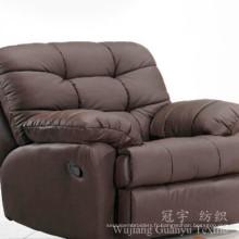 Tissu 100% de polyester de cuir de suède pour des couvertures de sofa