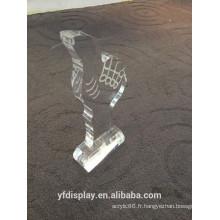 Coupe de trophée acrylique haut transparent, trophée, prix sportif