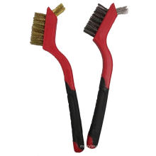 Mini Plastic Double Color Handle Steel Wire Brush Cleaning Brush