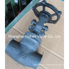 Válvula de compuerta de Bonete soldado con autógena del zócalo