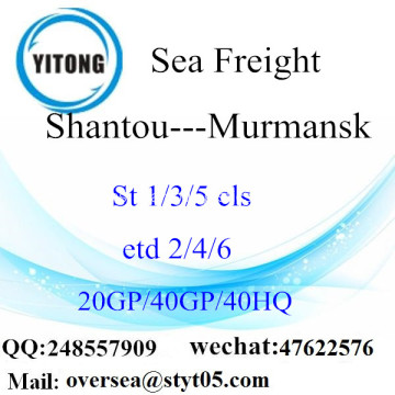 Shantou Port Sea Freight Shipping ke Murmansk