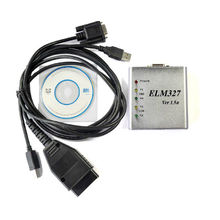 Cuadro Metal del escáner de la USB herramienta de diagnóstico OBDII Elm327 V1.5