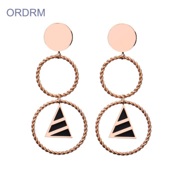 Fashion Double Drop Hoop Ohrringe für Frauen