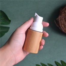 30ml empty bamboo foam pump bottle