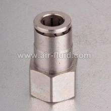 High Pressure Female Straight Adaptor Nickel Plated Slip Lock Fittings
