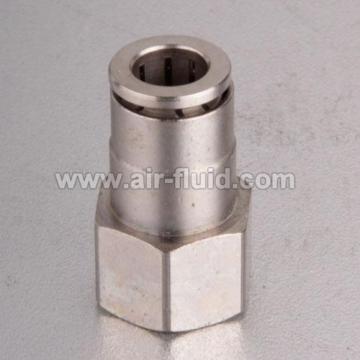 Alta presión hembra Adaptador recto niquelado de guarniciones de la cerradura del resbalón