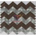 Wavy Shape Grind Face Metal Mosaic Tile (CFM909)