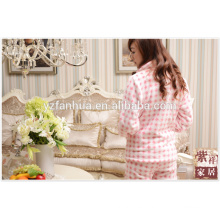 Pijamas de lujo pijamas térmicos para mujer franela roja